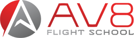 AV8 Flight School Logo